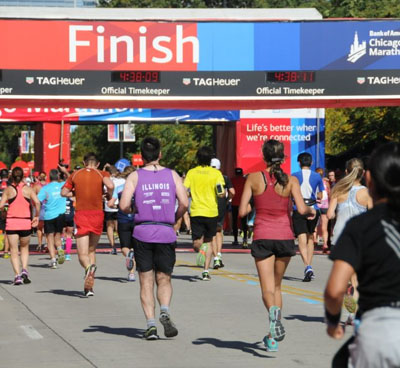 Finish Chicago Marathon